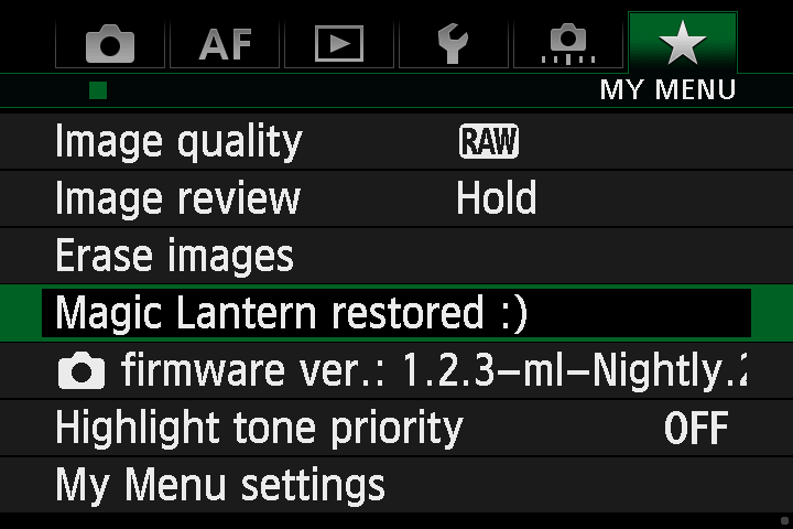 Magic Lantern Nightly Builds